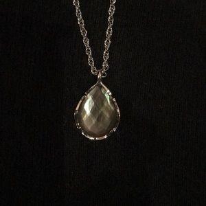Kendra Scott Kiri silver black pearl necklace